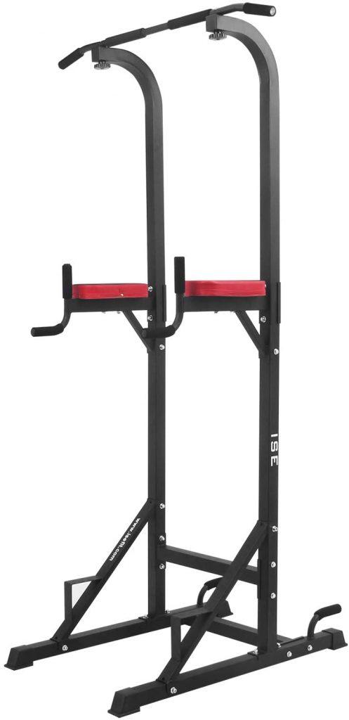 La chaise romaine ISE SY-5607 est de couleur noire et rouge.