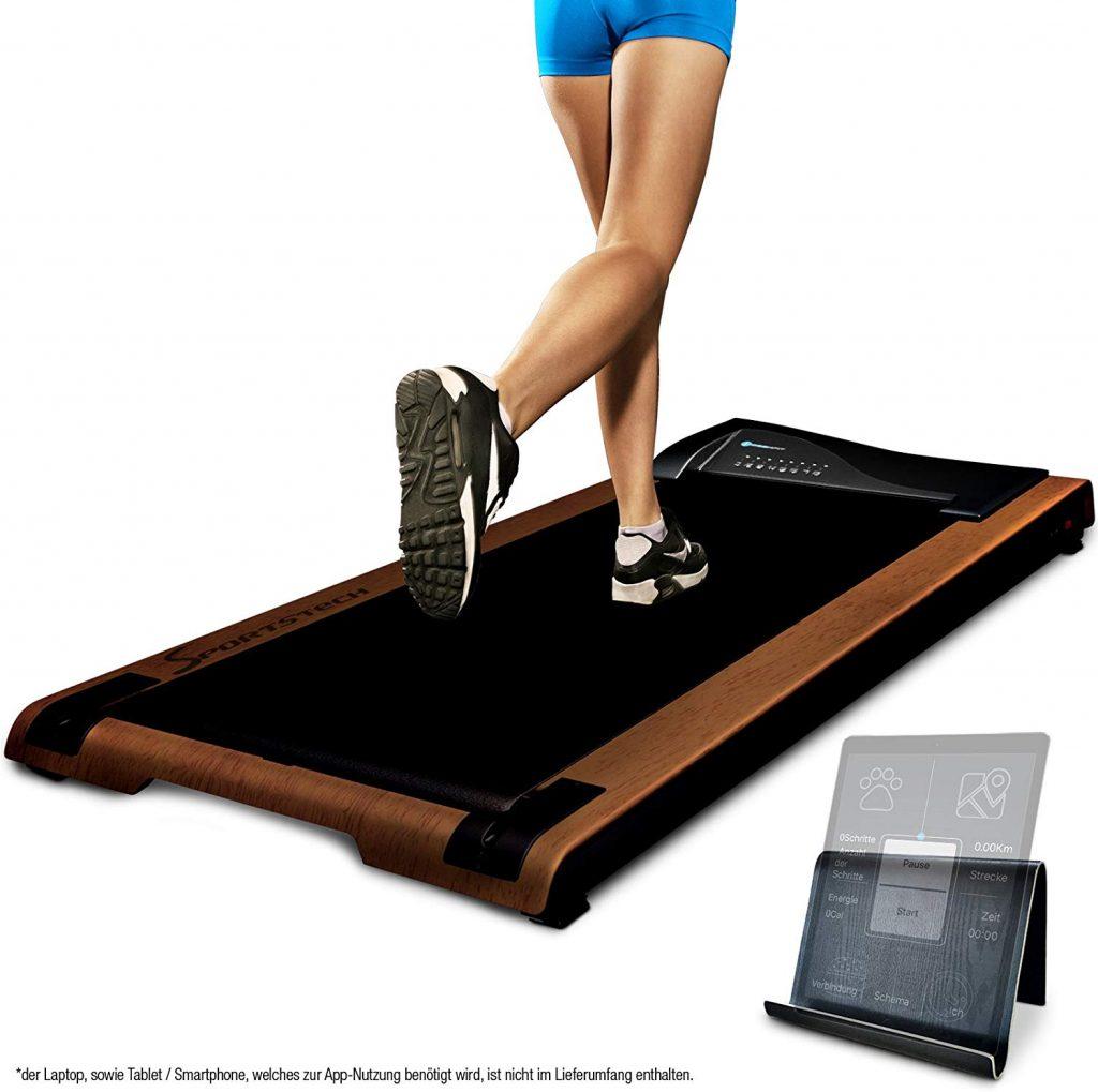 Avec le tapis de marche Deskfit de Sportstech a vous les heures de marches même au bureau
