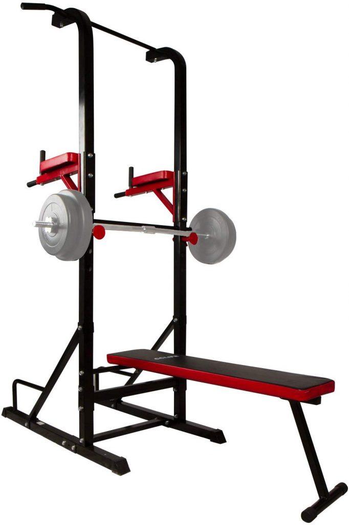Avec la power tower CCLIFE multifonction vous pourrez muscler l'ensemble de votre corps.