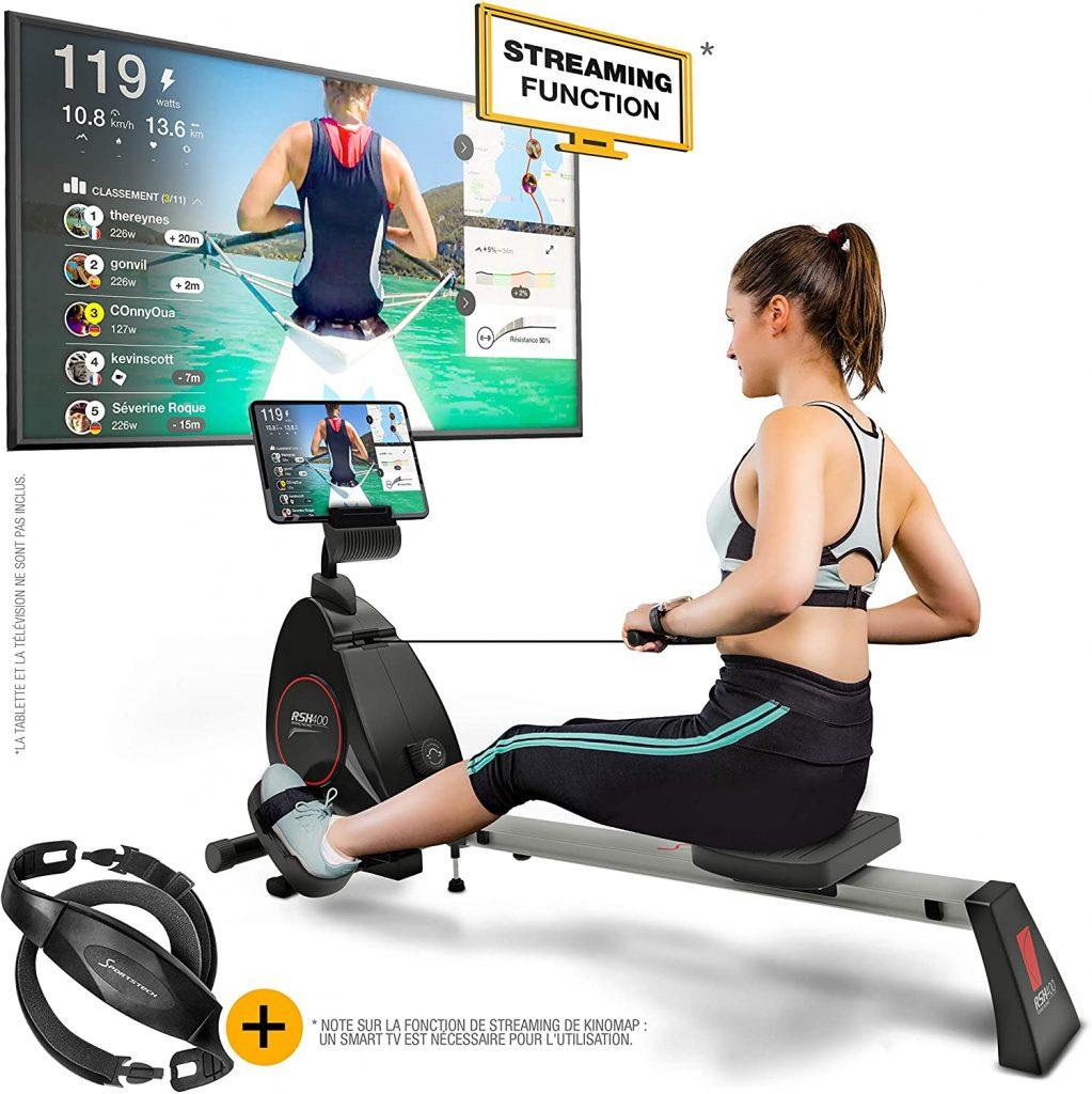 Avec le RSX400 à vous les séances de rame intense pour améliorer votre cardio