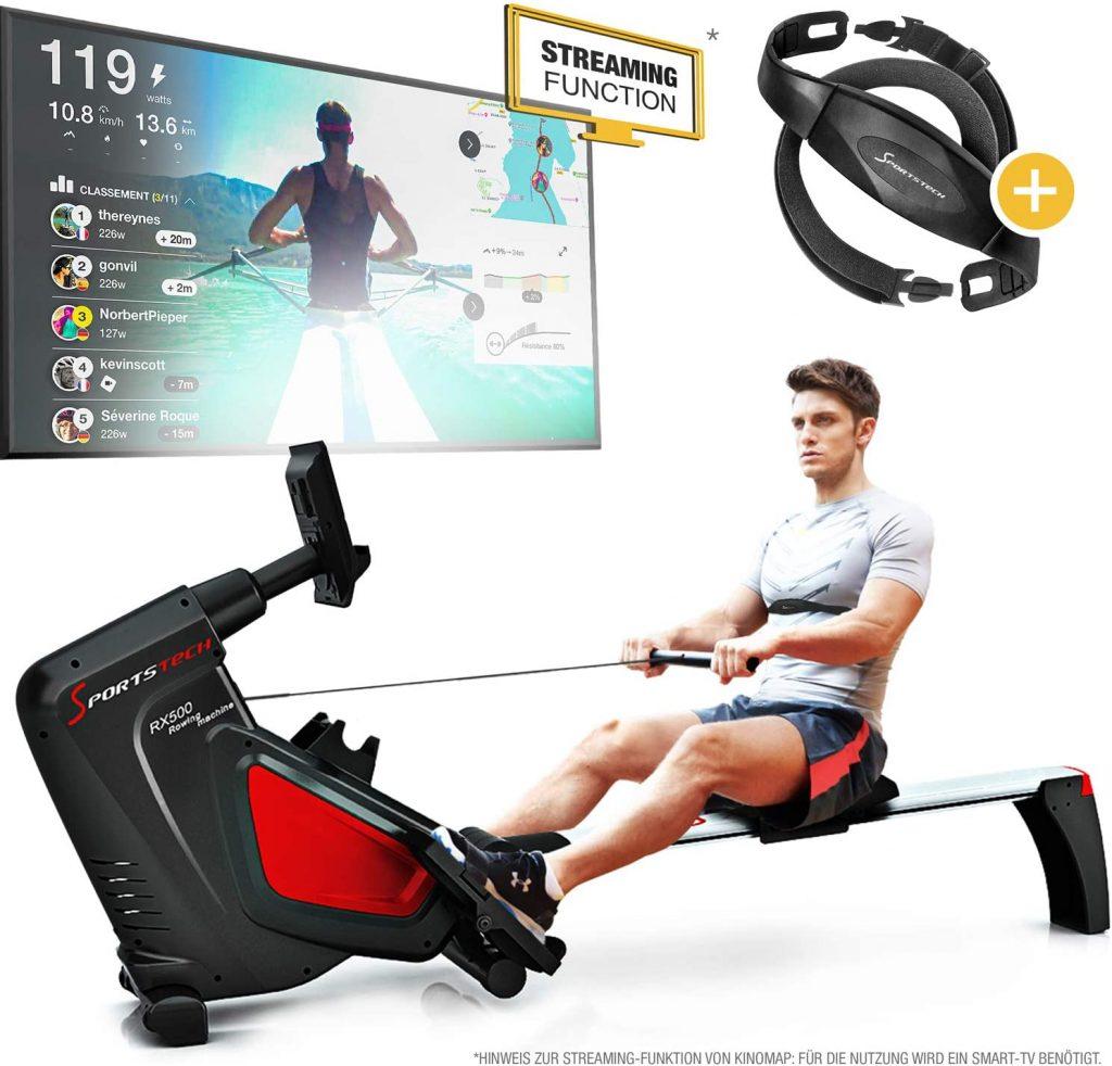 Le rameur RSX 500 de Sportstech vous assure des séances de rame intenses